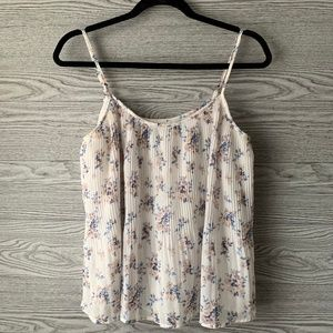 Abercrombie & Fitch Off White Floral Tank Top